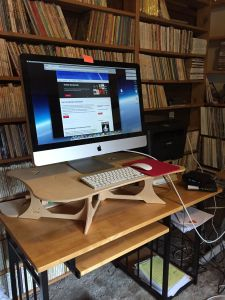 After the workshop, I revamped my internet computer workspace with a standing desk