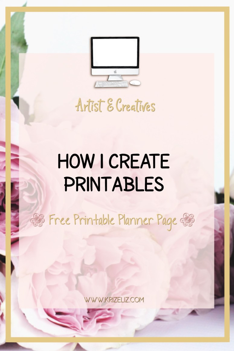 How I create stationery printables