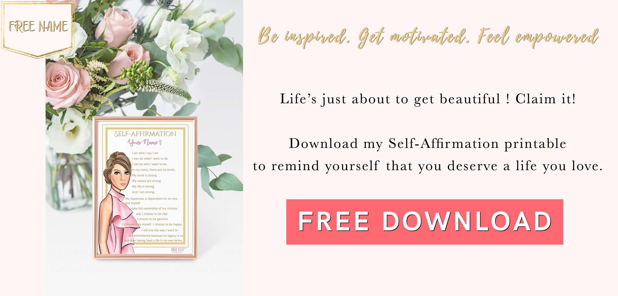 Self-Affirmation Printable
