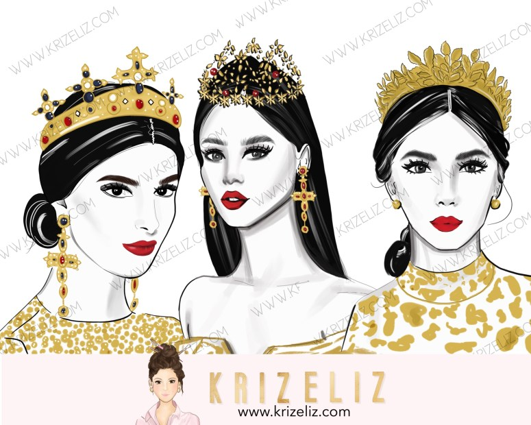 Kriz Eliz Illustrations Queen Series