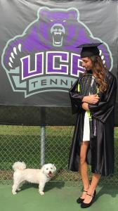 Krizia Max tennis graduation