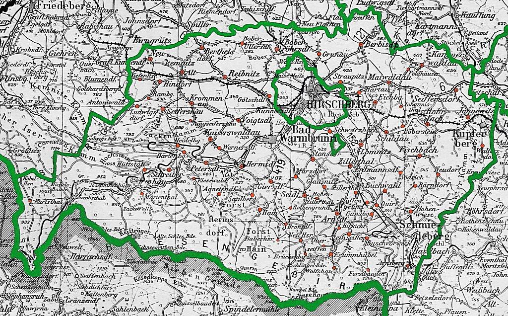 Karte Hirschberger Tal