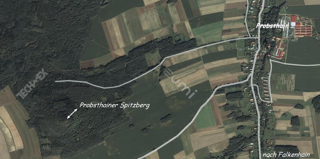 Geographische Lage des Probsthainer Spitzberges
