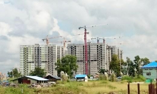 ビル建設現場 建設状況