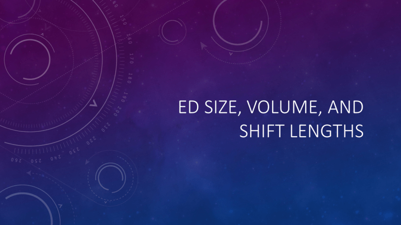ED Size, Volume, and Shifts