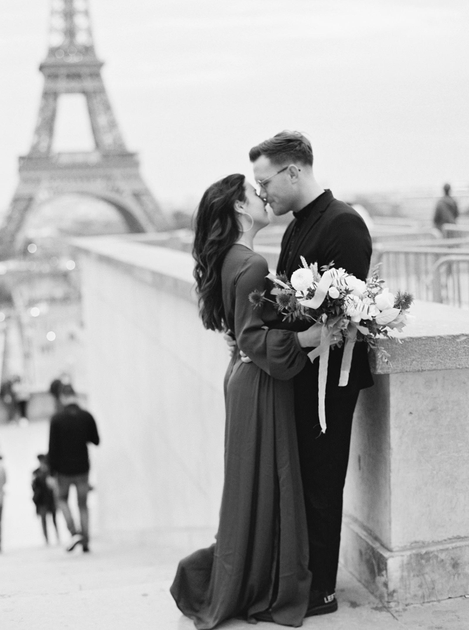 Romantic Eiffel Tower Engagement Photos - KR Moreno