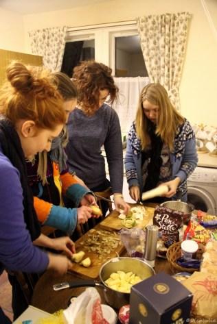 Preparing Haggis for Burns Night