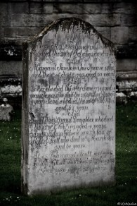 I could spend hours on graveyards reading the inscriptions