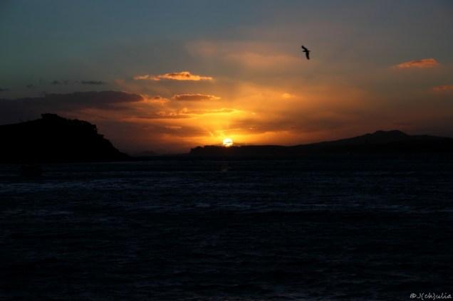 und zum Abschluss ein toller Sonnenuntergang mit kaltem Sturm