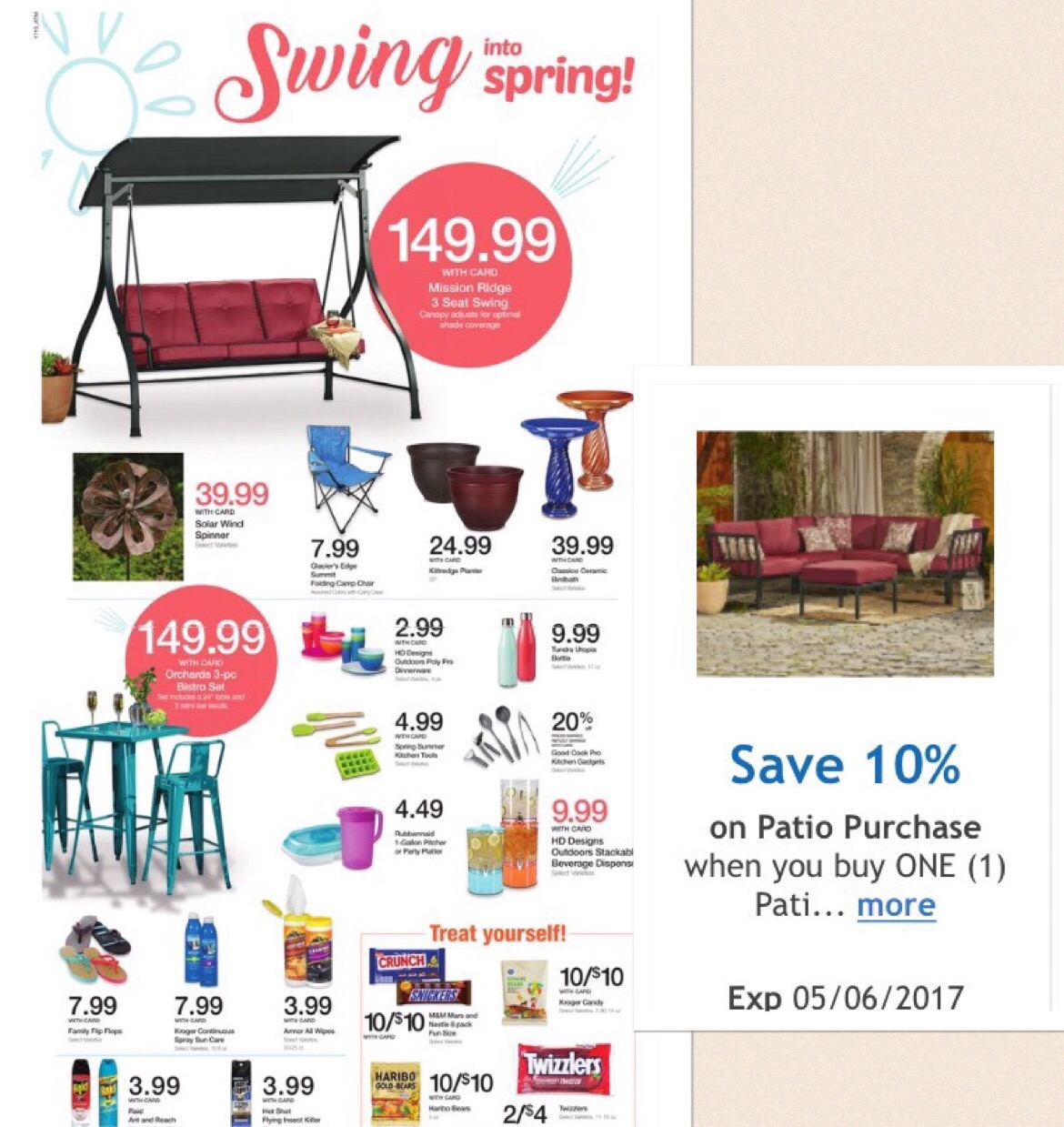 save 10 on kroger patio furniture kroger coupon queen