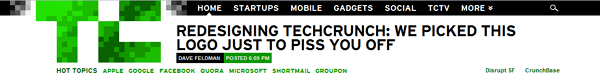 techcrunch new logo and header