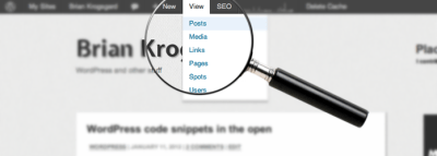 Toolbar Quick View WordPress Plugin