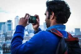 Just a photo of a guy taking a photo