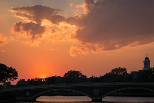 Sunset on the Charles River, Harvard University