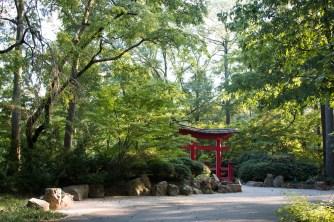 Outside the Japanese garden