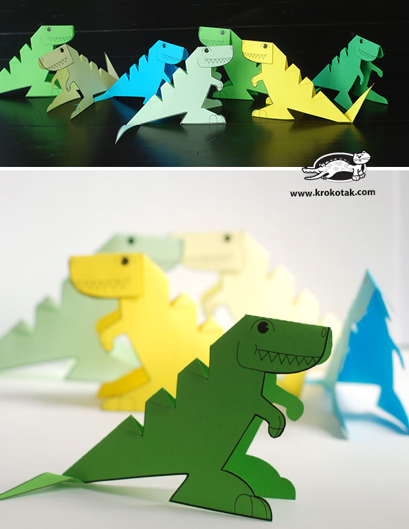 Krokotak Glue Lee Printable Dinosaur