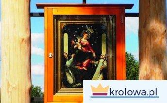 Obraz Matki Bożej Pompejańskiej w kapliczce