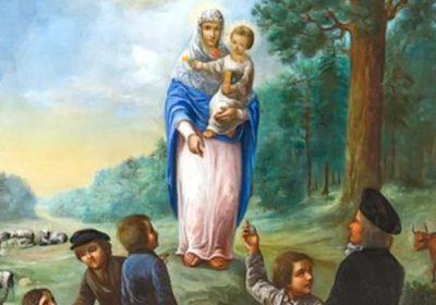 Obraz przedstawiający objawienie w Szydłowie