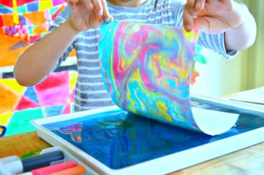 how to do color marbling