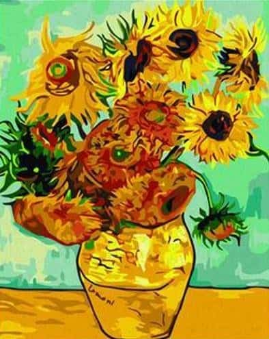 Best Paint by numbers Kit- Sunflowers