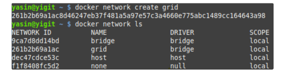 docker network create grid