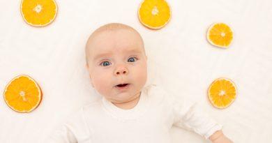 Alimentación del bebé: zumo de naranja y su contenido en vitamina C