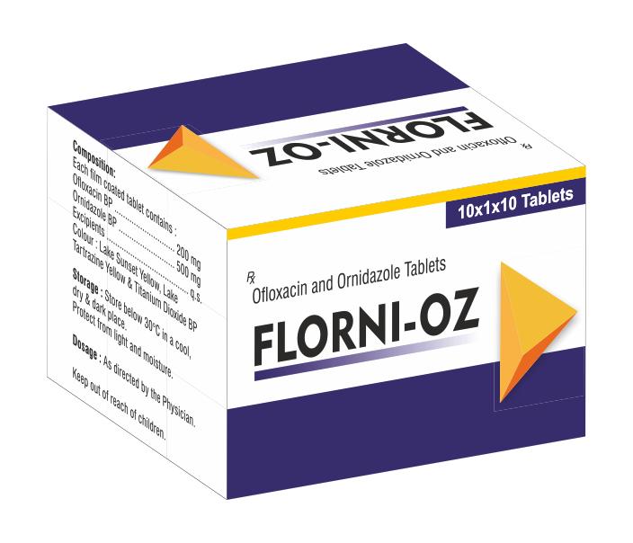 Ofloxacin Tablets & Ornidazole tablets
