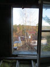 Utsikt från Bengt och Britas sovrum