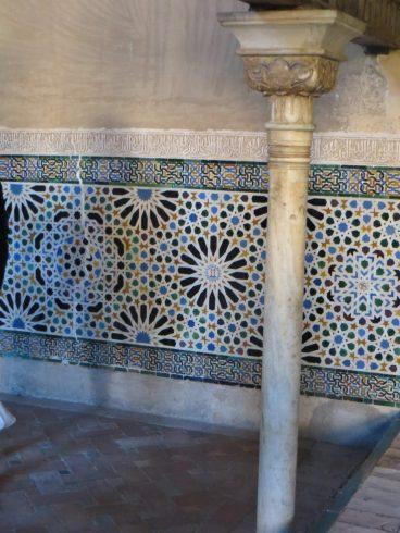 Kakel i Alhambra. Helt fantastikst.