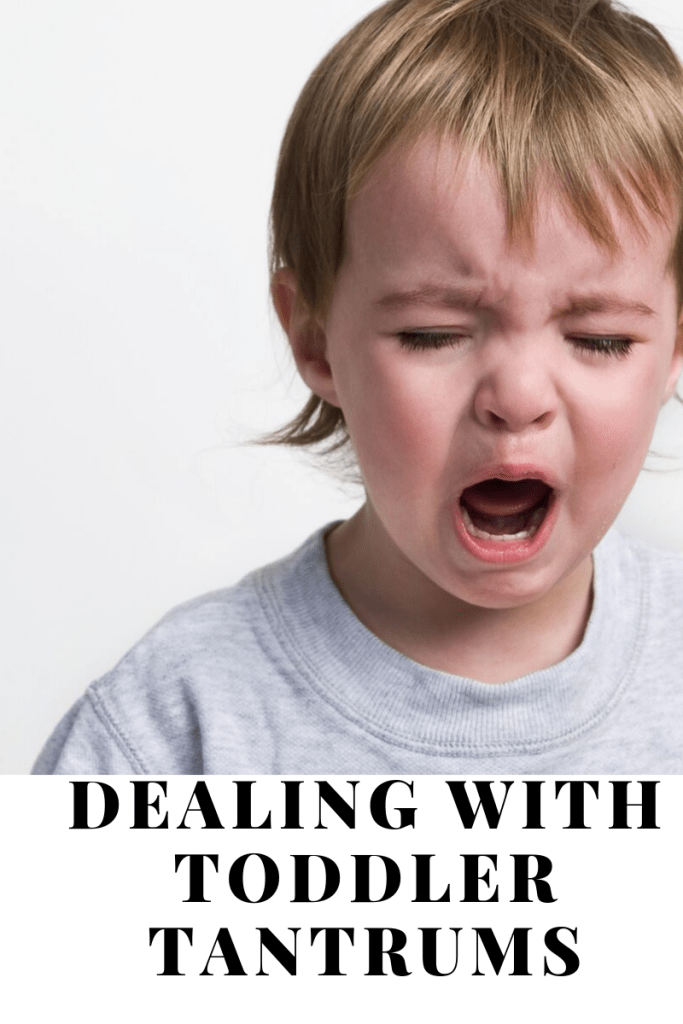 Dealing with tantrums, child crying