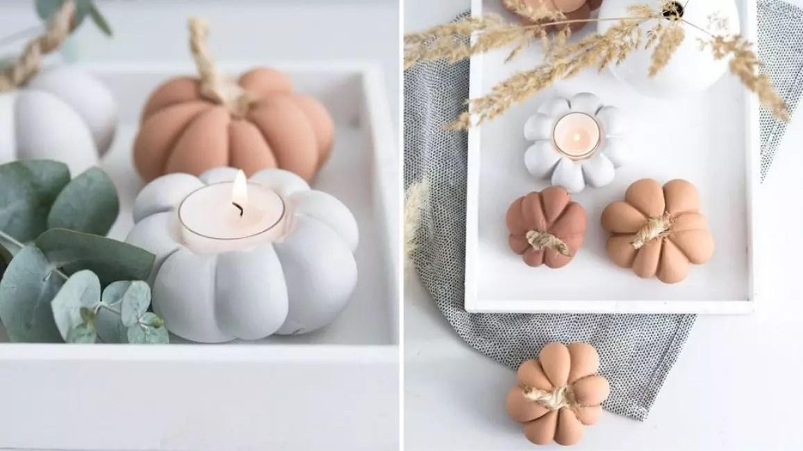 Tykoka-candlestick จากสีอะคริลิคและยิปซั่ม