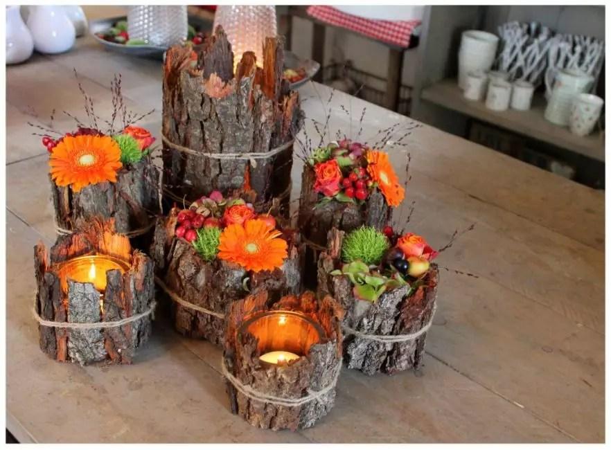 Bark sec, bouquets de motley crée une humeur incroyablement automne-printemps