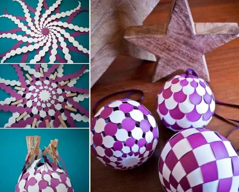 Palla di Natale intrecciata