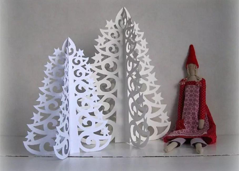 Alberi di Natale openwork.