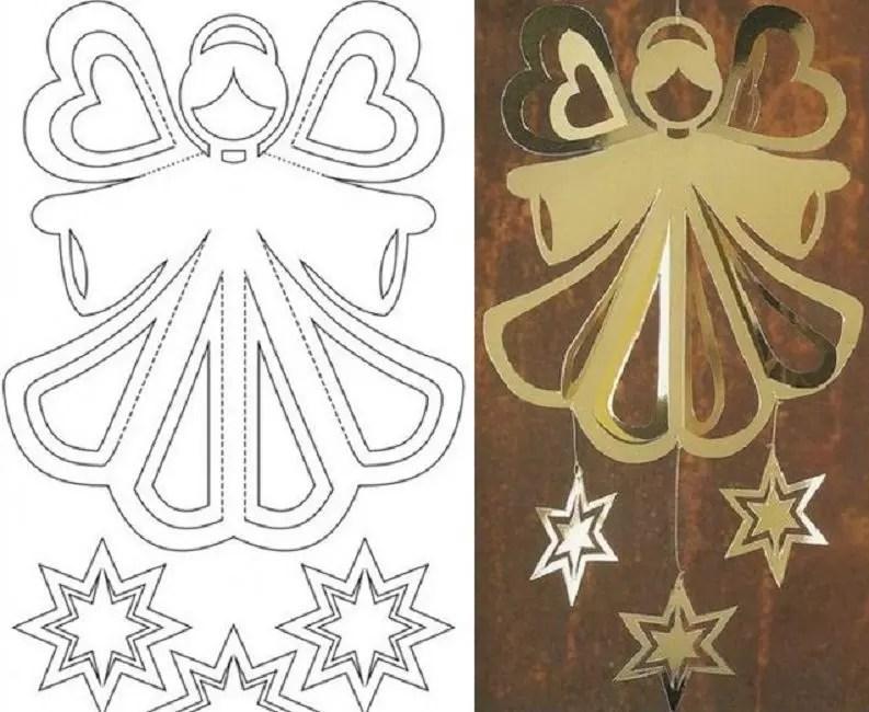 Stensil dengan malaikat
