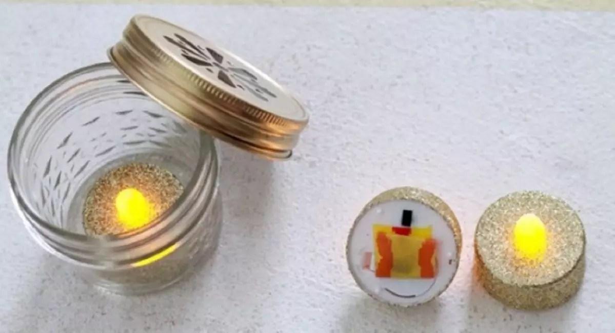 Kynttilä pankin sisällä