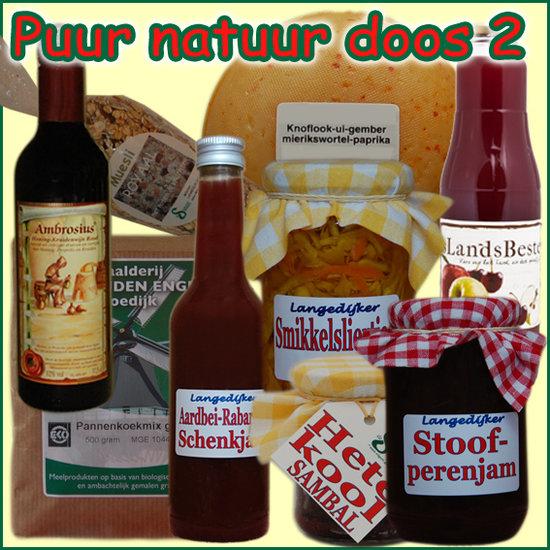 Kerstpakket Puur Natuur 2 - Streek Cadeaupakket gevuld met originele StreekSpecialiteiten - Cadeaupakket met StreekSpecialiteiten - www.kerstpakkettencadeaubon.nl