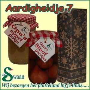 Kerstpakket Aardigheidje 7 - Streekpakket gevuld met lokale streekproducten - Relatiegeschenk Specialist - www.kerstpakkettencadeaubon.nl