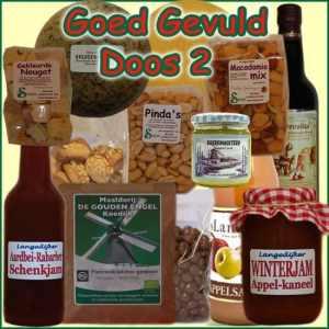 Kerstpakket Goed Gevuld 2 - Streekpakket goed gevuld is samengesteld met eerlijke lokale streekproducten - Kerstpakkket Specialist - www.krstpkkt.nl