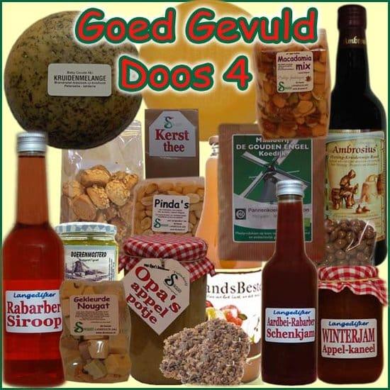 Kerstpakket Goed Gevuld 4 - kerstpakket goed gevuld is samengesteld met eerlijke lokale streekproducten - Traditioneel kerstpakket - www.krstpkkt.nl
