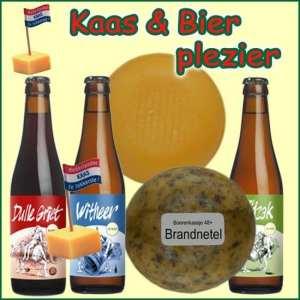 Kerstpakket Kaas en bier - Streekpakket gevuld met lokaal bier en kaas streekproducten - Streekcadeau Specialist - www.kerstpakkettencadeaubon.nl