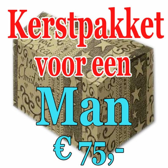 Kerstpakket Man Verrassing 75 - Verrassingspakket voor de Man - Kerstpakket verrassing Man - www.kerstpakkettencadeaubon.nl