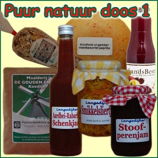 Kerstpakket Puur Natuur 1 - kerstpakket gevuld met originele Streekproducten - Streekpakket met StreekSpecialiteiten - www.krstpkkt.nl