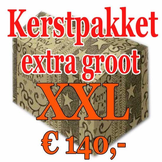 Kerstpakket Verrassing extra groot - 140 - Kerstpakket XXL is een zeer royaal Kerstpakket extra groot - www.kerstpakkettencadeaubon.nl
