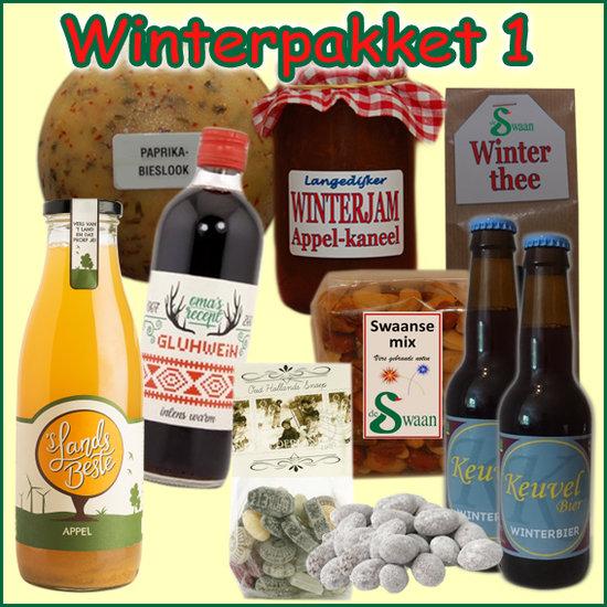 Kerstpakket Winter 1 - Streekpakket gevuld met unieke winterse streekproducten - Kerstpakket Specialist - www.kerstpakkettencadeaubon.nl