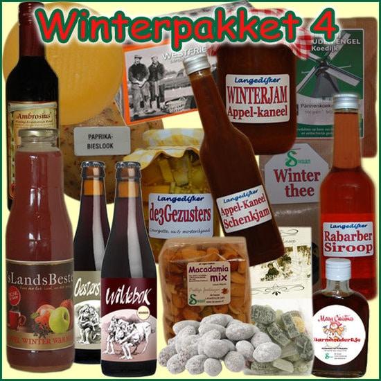 Kerstpakket Winter 4 - Streekpakket gevuld met unieke winterse streekproducten - Kerstpakket Specialist - www.kerstpakkettencadeaubon.nl