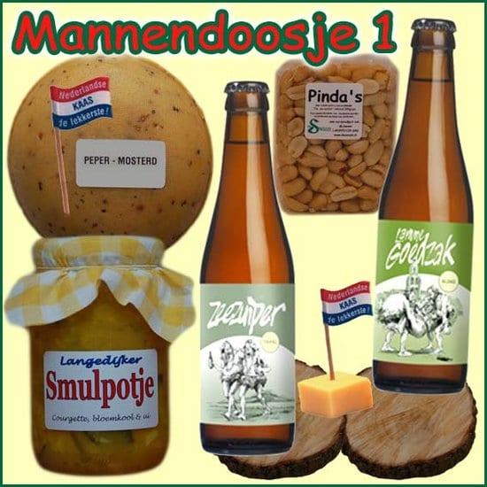 Kerstpakket man - kerstpakket gevuld met echte lokale streekproducten voor mannen - kerstpakketten mannen - www.krstpkkt.nl
