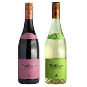 Wijnpakket Frans Terras 2 - Wijngeschenk Specialist - Wijngeschenk gevuld met luxe streekwijnen uit Frankrijk - Kerstpakket streekwijn - www.kerstpakkettencadeaubon.nl