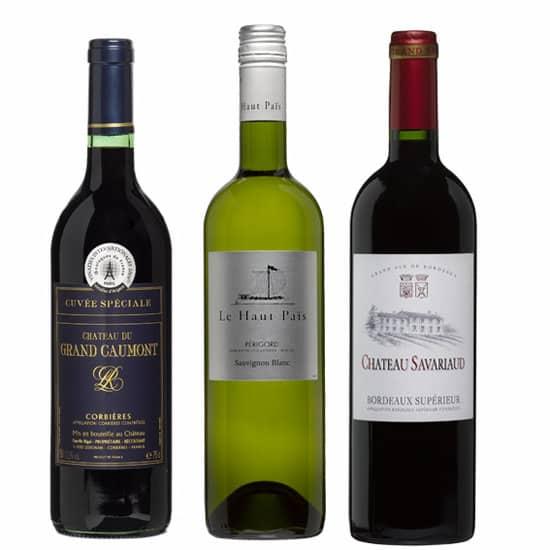Wijnpakket Rondje Frankrijk 3 - Wijngeschenk Specialist - Wijngeschenk gevuld met luxe wijnen uit Frankrijk - Kerstpakket wijn - www.krstpkkt.nl