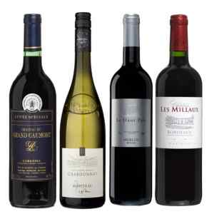 Wijnpakket Rondje Frankrijk 4 - Wijngeschenk Specialist - Wijngeschenk gevuld met luxe wijnen uit Frankrijk - Kerstpakket wijn - www.krstpkkt.nl